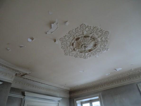 plafond et rosace avant