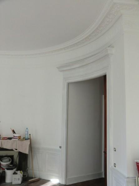 première couche sur murs et boiseries